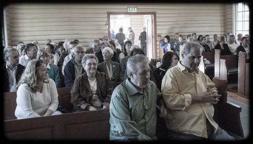 Kapellet ble raskt fylt opp.